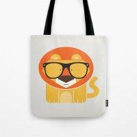 Hipster Lion Art Print Tote Bag