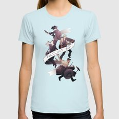 Poster Boys For Your Scene Womens Fitted Tee Light Blue SMALL