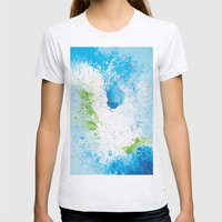 Abstract painting Womens Fitted Tee Ash Grey SMALL