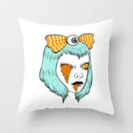 Throw Pillow featuring Candy Corn Melt by Ally Burke
