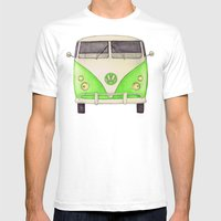 VW Type 2 Mens Fitted Tee White SMALL