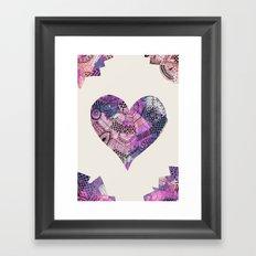 forever heart Framed Art Print