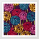 Full of Chrysant Art Print