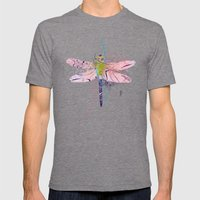 Dragonfly01 Mens Fitted Tee Tri-Grey SMALL