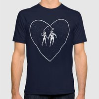 Love Space Mens Fitted Tee Navy SMALL