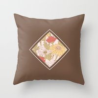Floribus Quadratum Throw Pillow