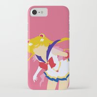 sailor moon iPhone & iPod Cases featuring Sailor Moon by Polvo