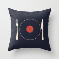 Vinyl Food Throw Pillow