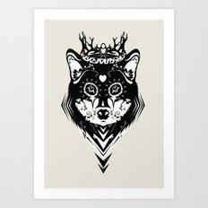 King of Wolf Art Print