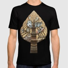 Owls Hotel Black Mens Fitted Tee SMALL
