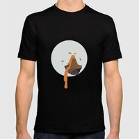 Volcano Mens Fitted Tee Black SMALL