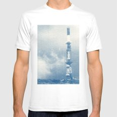 Blue Print White Mens Fitted Tee SMALL