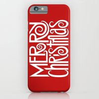 Merry Christmas Text Whi… iPhone 6 Slim Case