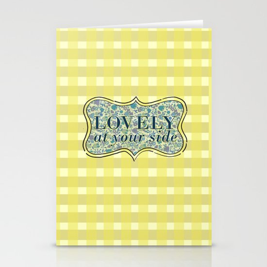 Lovely At Your Side Stationery Card