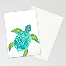 Watercolor Sea Turtle Stationery Cards