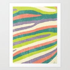 Fruit Stripes. Art Print
