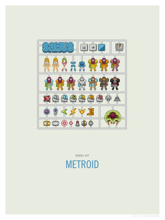 Metroid Model Kit Canvas Print
