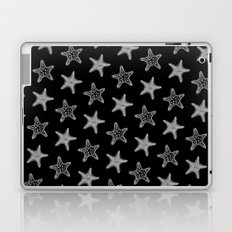 Starfish White on Black Laptop & iPad Skin