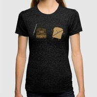 Slice! Womens Fitted Tee Tri-Black SMALL