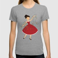 Wrapped In Lights Womens Fitted Tee Tri-Grey SMALL