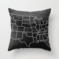 Ride Statewide - USA Throw Pillow