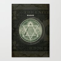 One Dollar Conspiracy Canvas Print