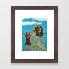 Le fil rouge Framed Art Print