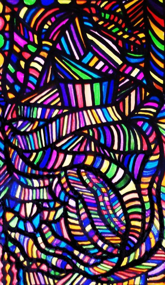 Rainbow Ribbons Art Print