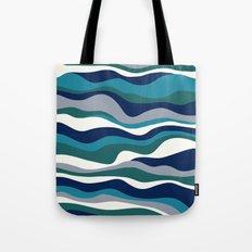 Cordillera Stripe: Teal Navy Combo Tote Bag