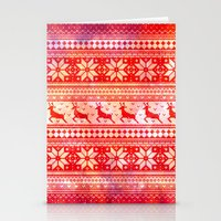 Reindeer Sweater Color Option Stationery Cards