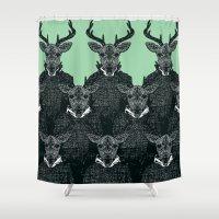 Chorus of Deer Shower Curtain