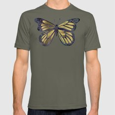 Gold Butterfly Mens Fitted Tee Lieutenant SMALL