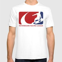 Hoverboard Racing League Mens Fitted Tee White SMALL