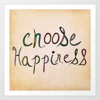 Choose Happiness (color version) Art Print