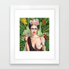 Frida con amigos Framed Art Print
