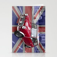 British Classic Mini car Stationery Cards