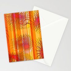 Orange stripes with bacillus Stationery Cards