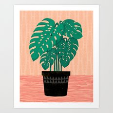 Cheese Plant - Trendy Hi… Art Print