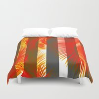 RED PALMS Duvet Cover