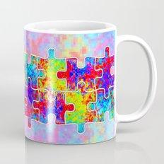 Autism Colorful Puzzle Pieces Mug