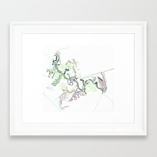 City of Plants Framed Art Print