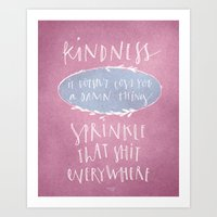 Kindness Quote Wall Art Calligraphy Art Print