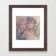A Normal Couple Framed Art Print