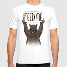Feed Me Bear Mens Fitted Tee White SMALL
