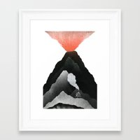Man & Nature - The Vulca… Framed Art Print