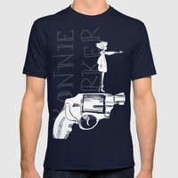 Bonnie Parker Mens Fitted Tee Navy SMALL