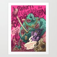 Columbus The Zombie Barb… Art Print
