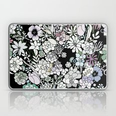Colorful black detailed floral pattern Laptop & iPad Skin