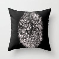 Black and White Dreams Throw Pillow