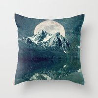 Sawtooths: Stanley Lake Throw Pillow
